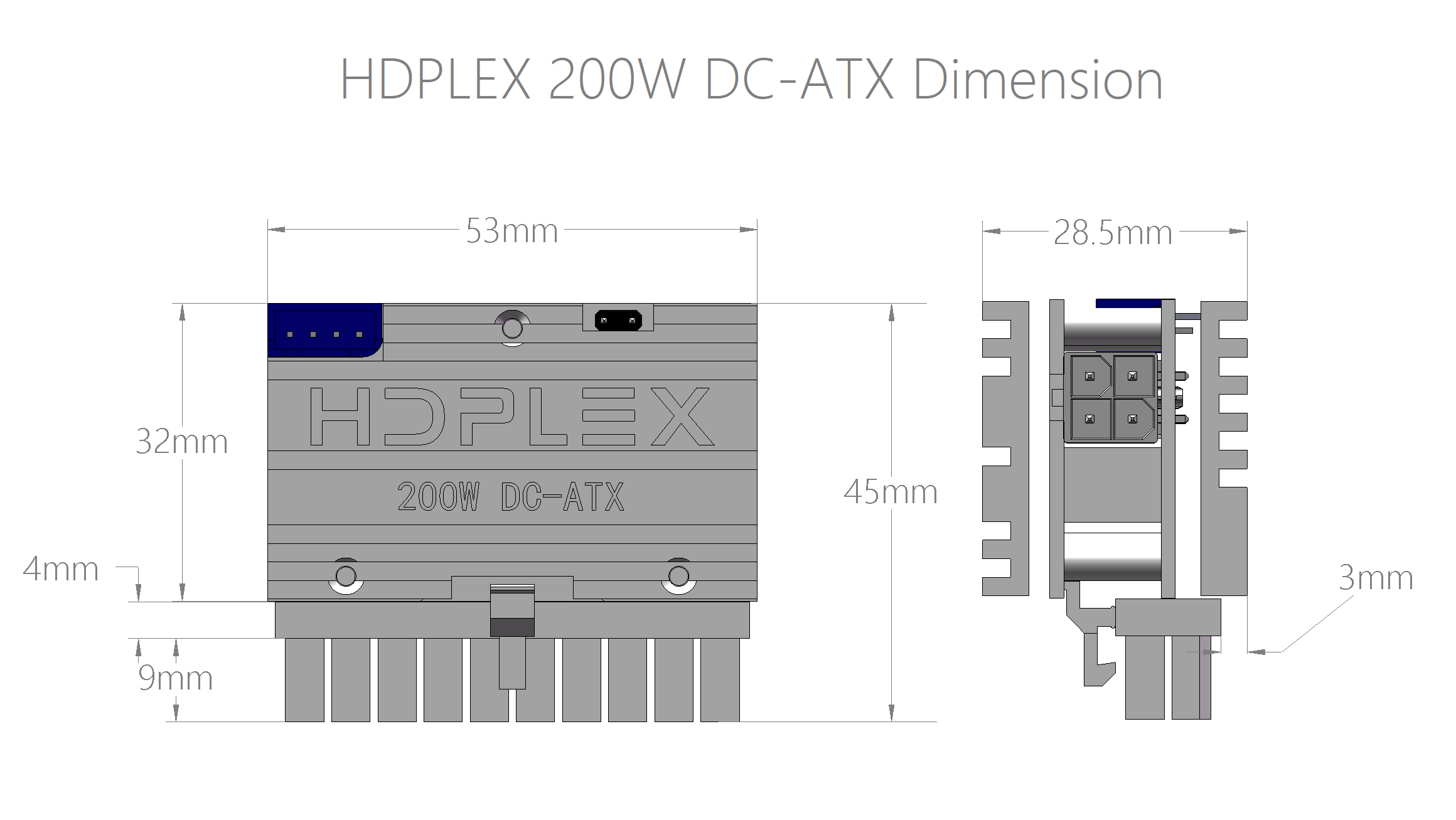 HDPLEX 200WDC-ATX Dimension