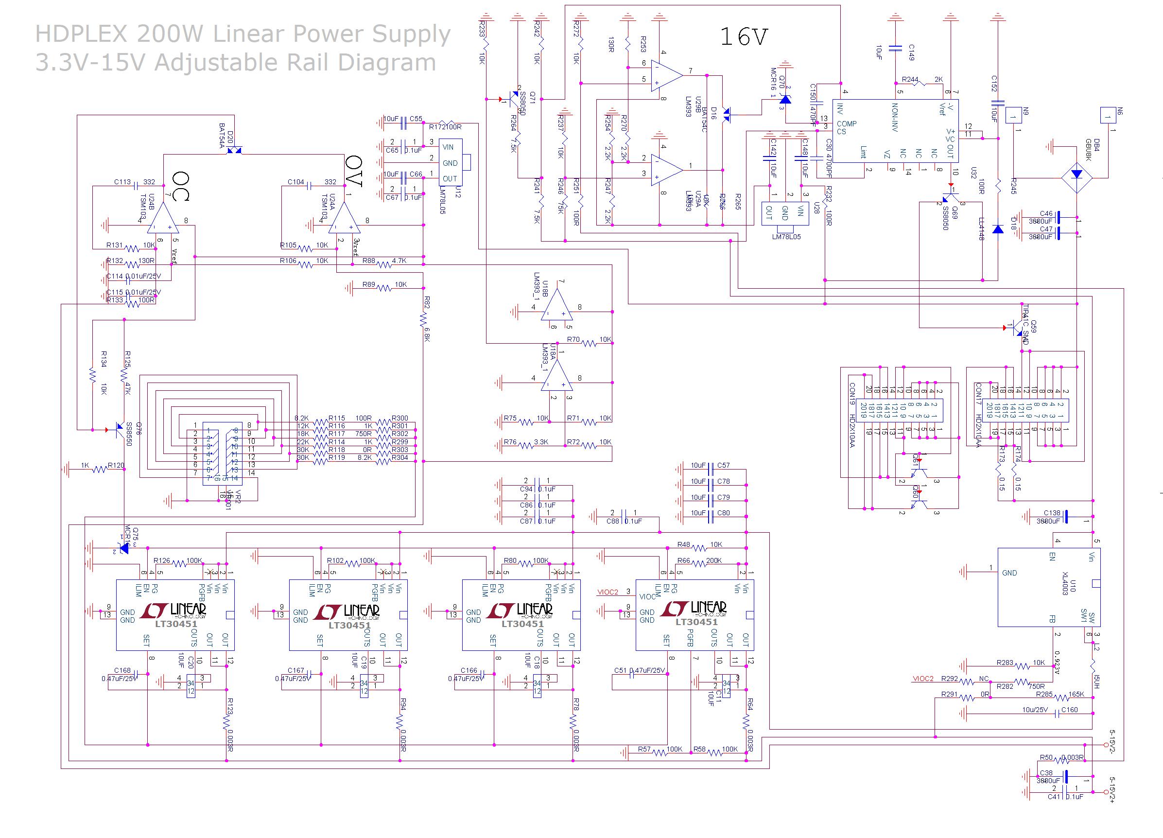 Hdplex 200w Linear Power Supply Multi Rail Output Dc Regulator 15v Non Transformer Psu Diagram