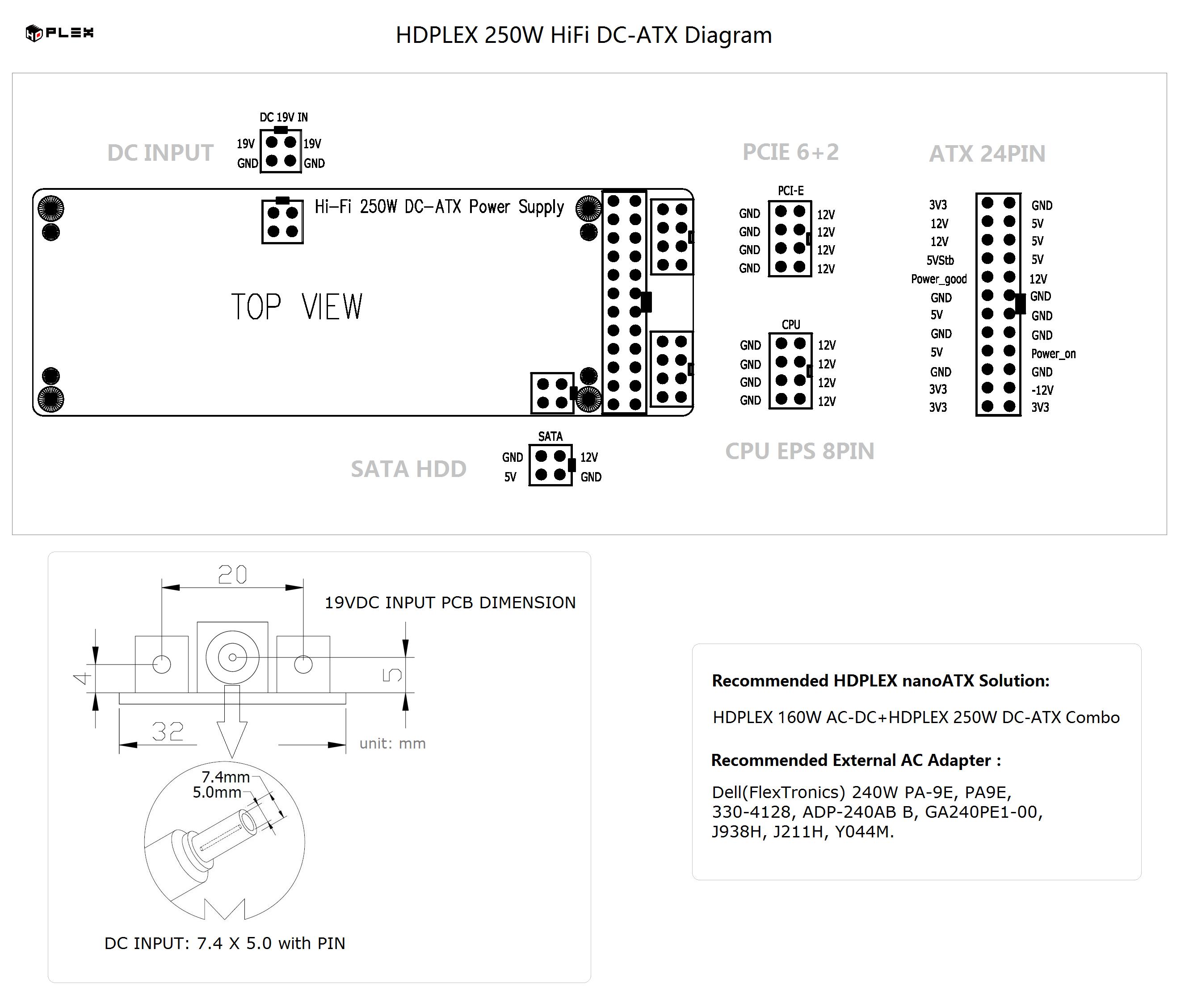 Hdplex 400w Hifi Dc Atx Converter Dell Ups Circuit Diagram Hardware Compatibility