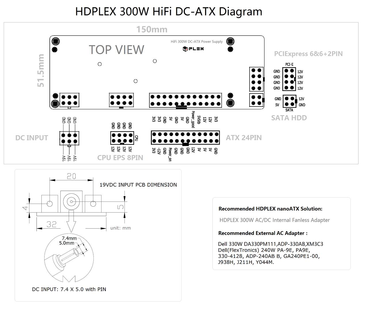Hdplex 400w Hifi Dc Atx Converter Dell Ups Circuit Diagram